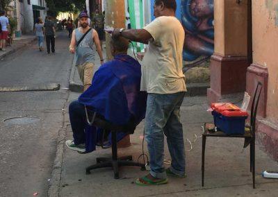 Friseur auf der Strasse