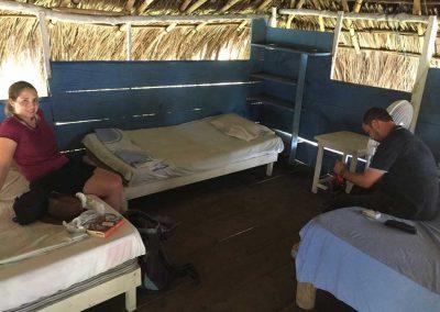 Unsere Schlafhütte