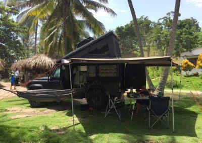 Camping unter Palmen