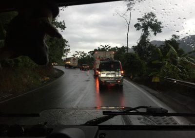 Besonders mühsam sind die langsamen Lastwagen auf Bergstrassen!
