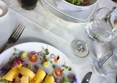 Französische Küche hoch über Bogota