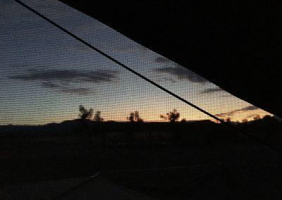 Der Blick aus dem Schlafzimmerfenster,  morgens um halb sechs.