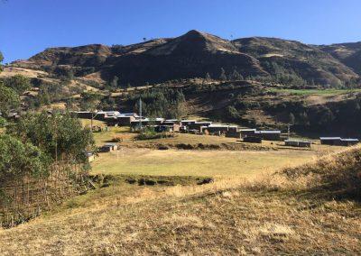 Quinden alto, ein Dorf in den Bergen.