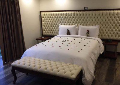 Unser gemütliches Hotelbett