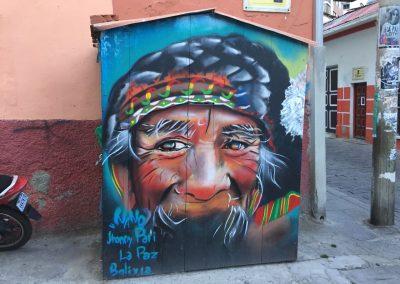 Graffiti aus La Paz