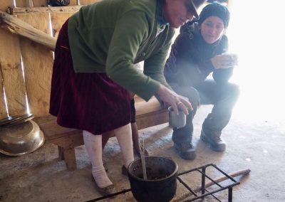 Ein Tee zum aufwärmen wird uns serviert.