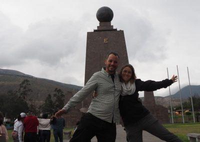 …auf dem offiziellen Äquator.