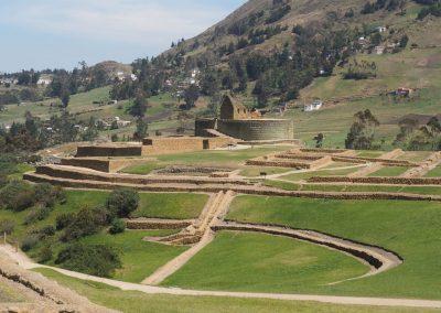 Die Ruinen-Anlage von Incapirca