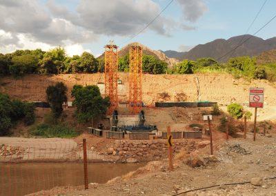 Die neue Brücke über den Rio Marañón